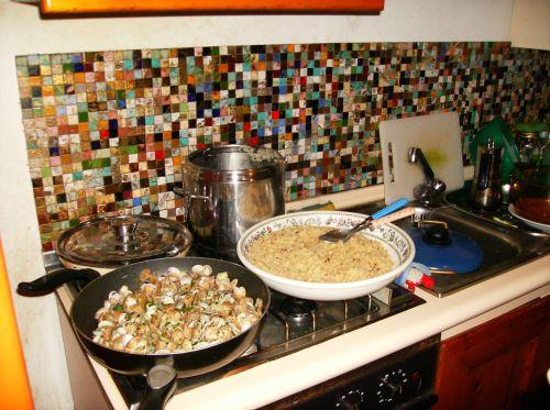 Sardinian couscous and canocchie